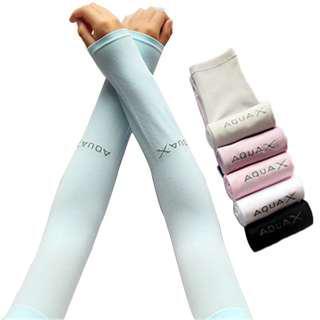 Handsock Aqua X Cooling Hand Sock Seamless Ice Silk UV Protectiv Arm Sleeves
