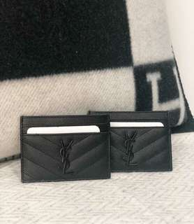 YSL Card Holder so Black
