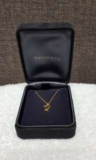 Tiffany & Co 18k Gold Loving Heart Necklace