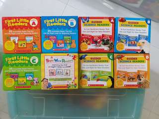 Scholastic Phonics, Sight Words and Science Readers - 8 boxes
