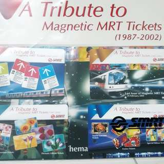 Collectable smrt magnetic tickets