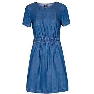 Oliver Bonas denim jeans dress Waisted soft Denim Dress by Poem  size 36 34 small