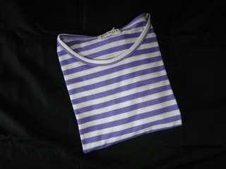 Purple stripe tee