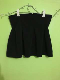 Korean Black Mini Skirt