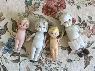 1970s日本制瓷娃四個