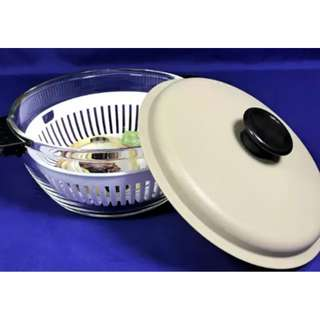 BAKEWARE / MICROWAVEABLE GLASS BOWL WITH COVER JCE DY05-2