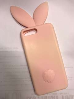 Iphone 7+ Soft (Rubber) Case Rabbit Ears
