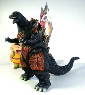 Authentic Bandai burning godzilla kaiju japan toy