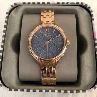 Authentic Fossil Watch (rose gold strap)