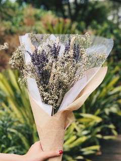 🚚 Dried flower bouquet mix of baby breath, lavender and wheat #caroupay