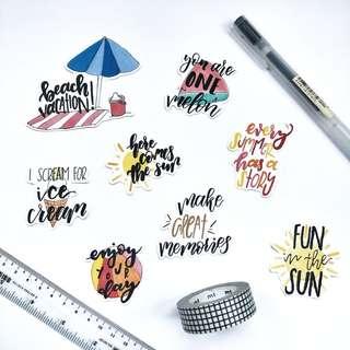 🚚 Beach Quotes Stickers - Stickyrella