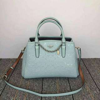 AUTHENTIC COACH MARGOT SIGNATURE EMBOSSED