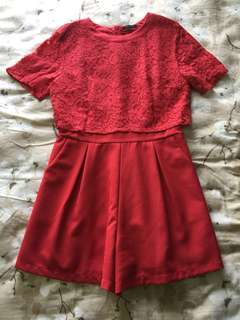 Mojito Red Lace Jumpsuit