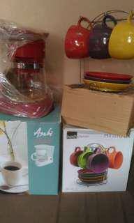 Asahi Coffee Maker w/ FREE Cup & Saucer Set
