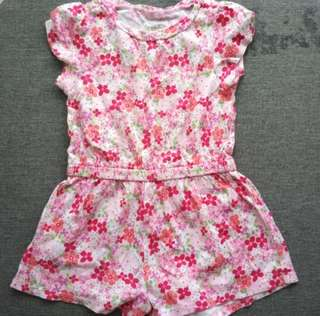 Baby Girl Romper pink 12 months