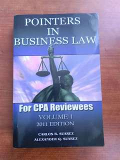 Pointers in Bus Law by Suarez vol 1