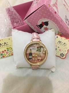 🇰🇷m:n:韓國3D軟陶手錶粉紅色