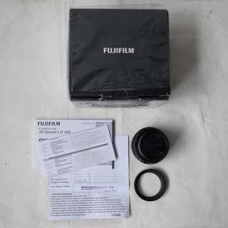 Lensa Fujinon 35mm f2 WR Black
