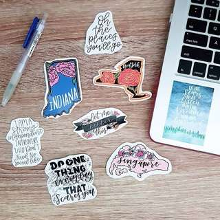🚚 Cute Vinyl Stickers, Planner Stickers, Laptop Stickers, Luggage Stickers, Car, Decal stickers Tumblr Stickers
