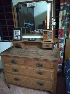Wardrobe Solid Wood with Mirror