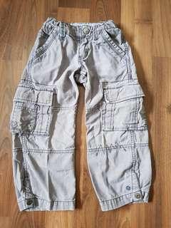 Gray Cargo Pants (4T)