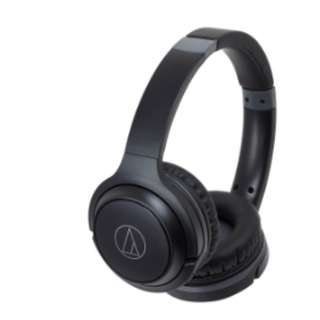 Audio-Technica ATH-S200 BT Wireless On-Ear Headphones with Built-in Mic & Controls (Black)