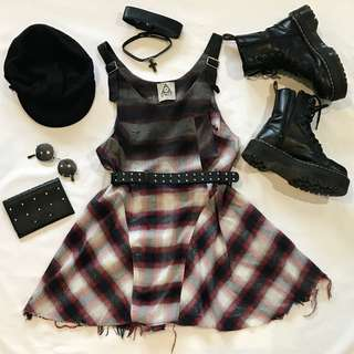 UNIF Tartan Dress S