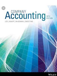 Company Accounting, 10th Edition Ebook(with all chapter solution)