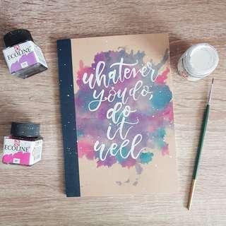🚚 Sewn Handlettered Notebooks