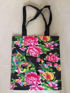 全棉中國特色印花布袋 Tote Bag
