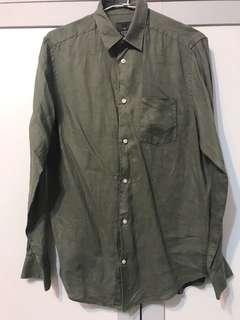 H&M 棉麻襯衫