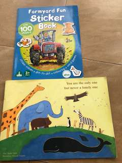 Farmyard Fun Sticker Book plus free book