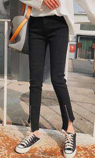 Korean Zipper Stretch High Waist Pencil Jeans