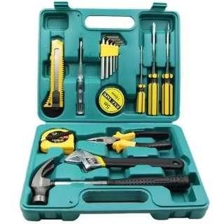16 in 1 Hardware Repair Tool Box 16pcs Professional Home Maintenance Hand Repair Tool Set 16 Pieces Repair And Maintenance Tools Set
