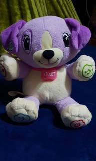 My Pet pal Violet talking stuff toy dog
