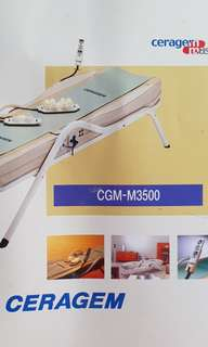 🚚 Good Condition CERAGEM Master CGM-M3500 Therapy Massage Bed