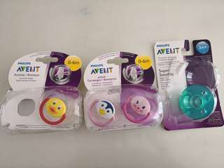 BN Philips Avent Pacifiers
