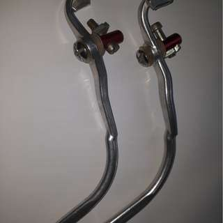 Vintage 1980's Pair Dia Compe Red Dot Safety Blake Levers, Pat No 862645, Japan, NOS