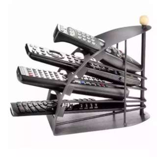 Remote Control Holder Stand Storage Rack Organizer (Black)