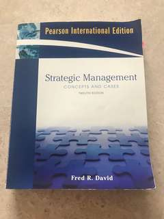 Strategic management concept and cases