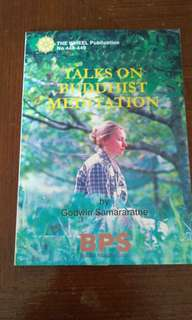 Talks on Budhist Meditation by Godwin Samararatne