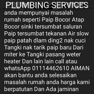 Plumbing baiki masalah rumah call 01114462610