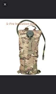 S-Pro 2.5 L portable hydration bag camo tactical cycling bike camel water bladder bag assault backpack camping,hiking water pocket bag