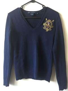 Ralph Lauren Polo sweater jumper XS Navy
