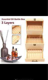 🚚 59 slots Essential oil storage box wooden box 3 tiers young living doterra