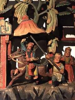 掛牆彩色木浮雕(百忍堂)