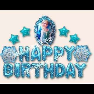 🦄 [Instock] Happy Birthday Party Decor Balloon Set - Frozen