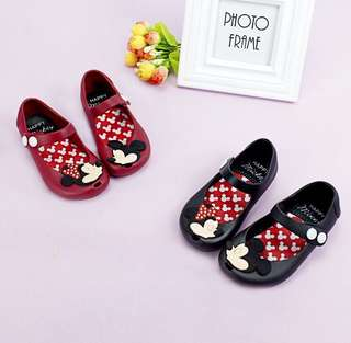 Mickey Mouse jelly shoes
