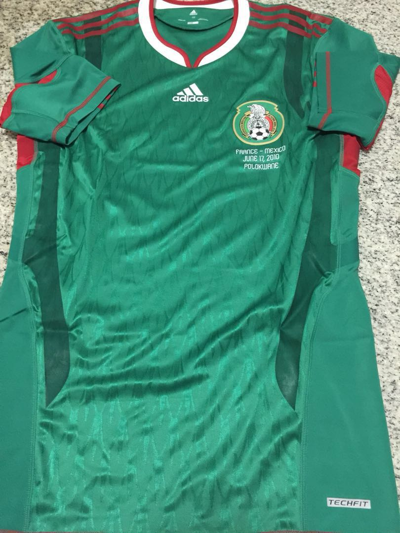 7b68083e633 100% Authentic Adidas Player Issue Mexico World Cup Jersey Techfit ...