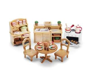 🚚 BN Sylvanian Familes Calico Critters Epoch Deluxe Kitchen Set